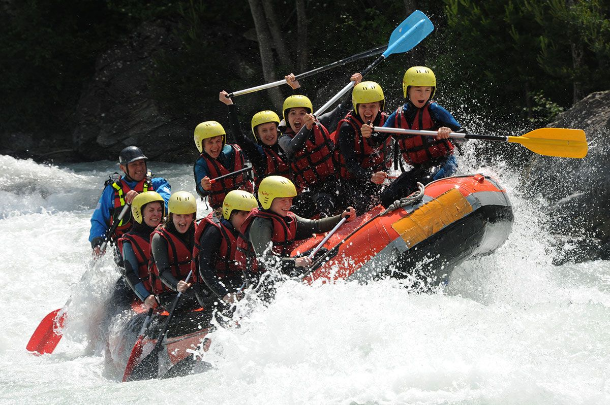 rafting alps